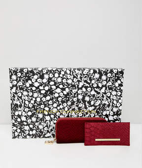 French Connection velvet purse and cardholder gift set