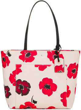 Kate Spade Hyde Lane Poppies Small Riley Tote - ROSE DEW MULTI - STYLE