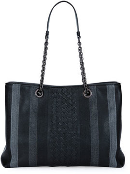 Bottega Veneta Double Chain Woven Tote Bag