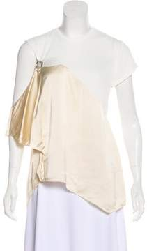 Esteban Cortazar Asymmetrical Colorblock Top