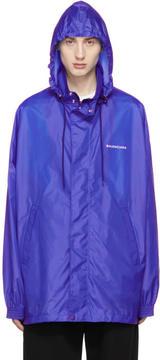 Balenciaga Blue Logo Windbreaker Jacket