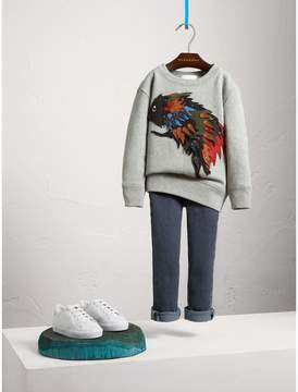 Burberry Beasts Appliqué Cotton Jersey Sweatshirt
