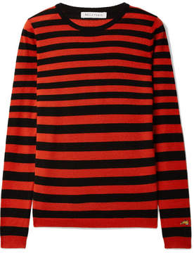 Bella Freud Skinny Minnie Striped Wool And Cashmere-blend Sweater - Red