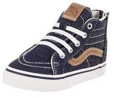 Vans Toddlers Sk8-hi Zip (denim C&l) Skate Shoe.