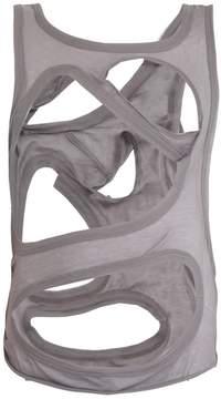 Rick Owens Membrane cut-out cotton tank top