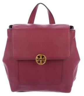Tory Burch Logo-Embellished Nubuck Backpack