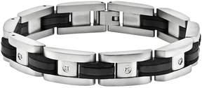 Lynx Stainless Steel Black Ion 1/10-ct. T.W. Diamond Bracelet - Men
