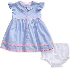 Sweet Heart Rose Striped Lace-Trim Dress, Baby Girls (0-24 months)