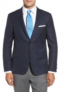 Hickey Freeman Men's Classic B Fit Check Wool Sport Coat