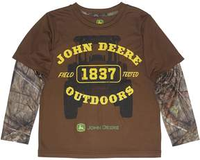 John Deere Boys 4-7 Camouflaged 1837 Outdoors Mock-Layer Tee