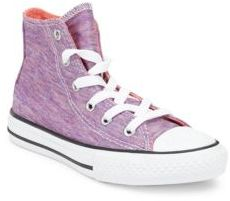 Converse Girl's Jersey Knit Canvas High-Top Sneakers