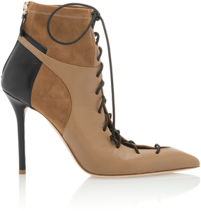 Malone Souliers Montana Leather-Paneled Suede Ankle Boots