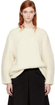 LAUREN MANOOGIAN SSENSE Exclusive White Fisherman Tunic Sweater