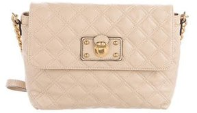 Marc Jacobs Quilted Leather Flap Bag - NEUTRALS - STYLE