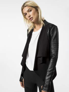 Blanc Noir Drape Front Jacket