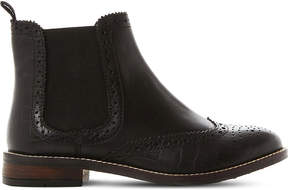 Dune Ladies Black Cropped Elegant Quentons Leather Chelsea Boots