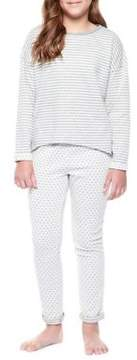Dex Girl's Two-Piece Patterned Pajama Top and Pants Set