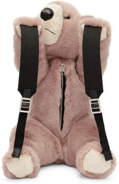 Dolce & Gabbana Pink Eco Fur Teddy Bear Backpack