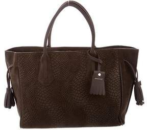 Longchamp Suede Penelope Tote - BROWN - STYLE