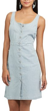 Chaps Women's Railroad-Stripe Jean Dress