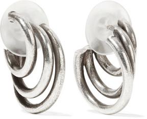 Dannijo Winona Oxidized Silver-tone Hoop Earrings
