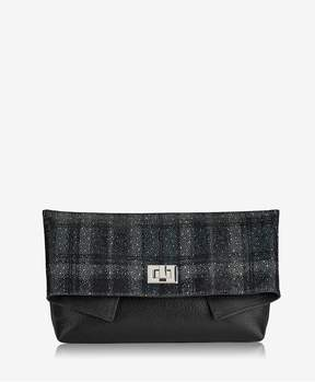 GiGi New York | Claire Clutch In Soft Shimmer Plaid | Soft shimmer plaid