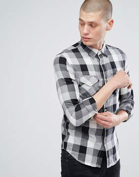 Lee Jeans Western Shirt in Black Check