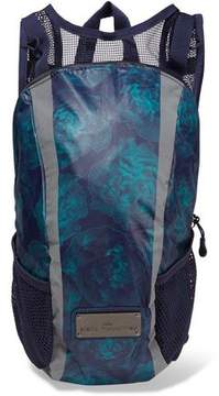 adidas by Stella McCartney Run Mesh-Paneled Printed Shell Backpack