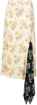 Christopher Kane archive floral tie skirt