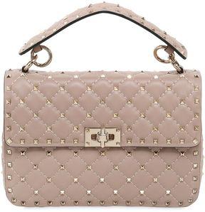 Medium Spike Leather Shoulder Bag