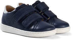 Bisgaard Navy Velcro Shoes