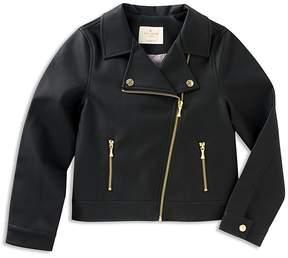 Kate Spade Girls' Faux-Leather Moto Jacket - Big Kid
