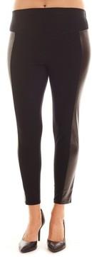 Everly Grey Women's Ella Faux Leather & Knit Maternity Leggings