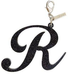 Edie Parker Alphabet R Bag Charm, Starlight Silver