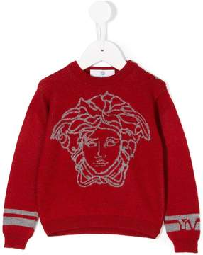 Versace intarsia-knit sweater
