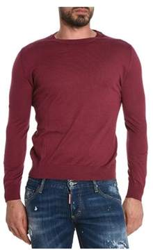 H953 Men's Red Cotton Sweater.