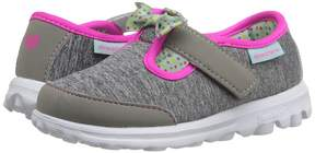 Skechers Go Walk - Bitty Bow Girl's Shoes