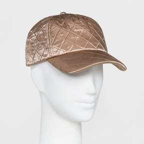 Mossimo Women's Quilted Satin Baseball Hat Gold
