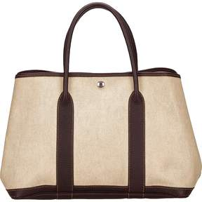 Hermes Garden Party cloth tote - WHITE - STYLE