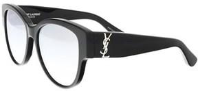 Saint Laurent Sl M3-003 Black Cat Eye Sunglasses.