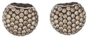 Boucheron 18K Tentation Diamond Macaron Earrings