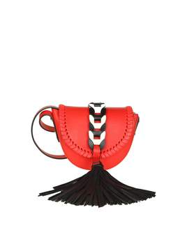 RED Valentino Red Leather Shoulder Bag