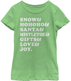 Fifth Sun Green Apple Christmas List Tee - Girls