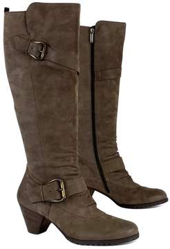 Paul Green Taupe Leather Heeled Boots