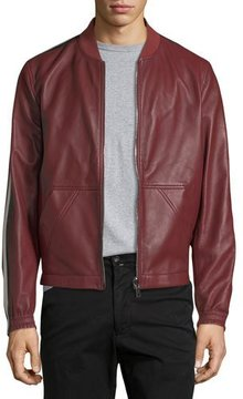 Bally Leather Bomber Jacket with Trainspotting Stripes