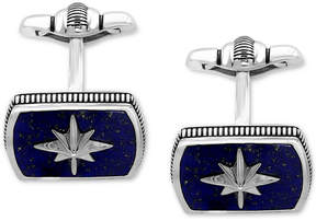 Effy Men's Lapis Lazuli (16-1/2 x 12mm) Starburst Cuff Links in Sterling Silver