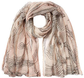 Faliero Sarti Printed Cotton Scarf with Silk