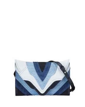 Elena Ghisellini Felina Mini Patchwork Jeans Crossbody Bag