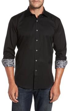 Bugatchi Men's Shaped Fit Print Sport Shirt