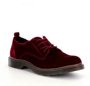 Coolway Velvet Claire Lace-Up Oxfords